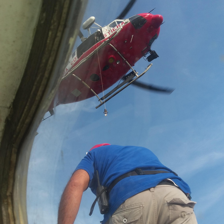 Recupero ferito con elicottero – Esercitazione