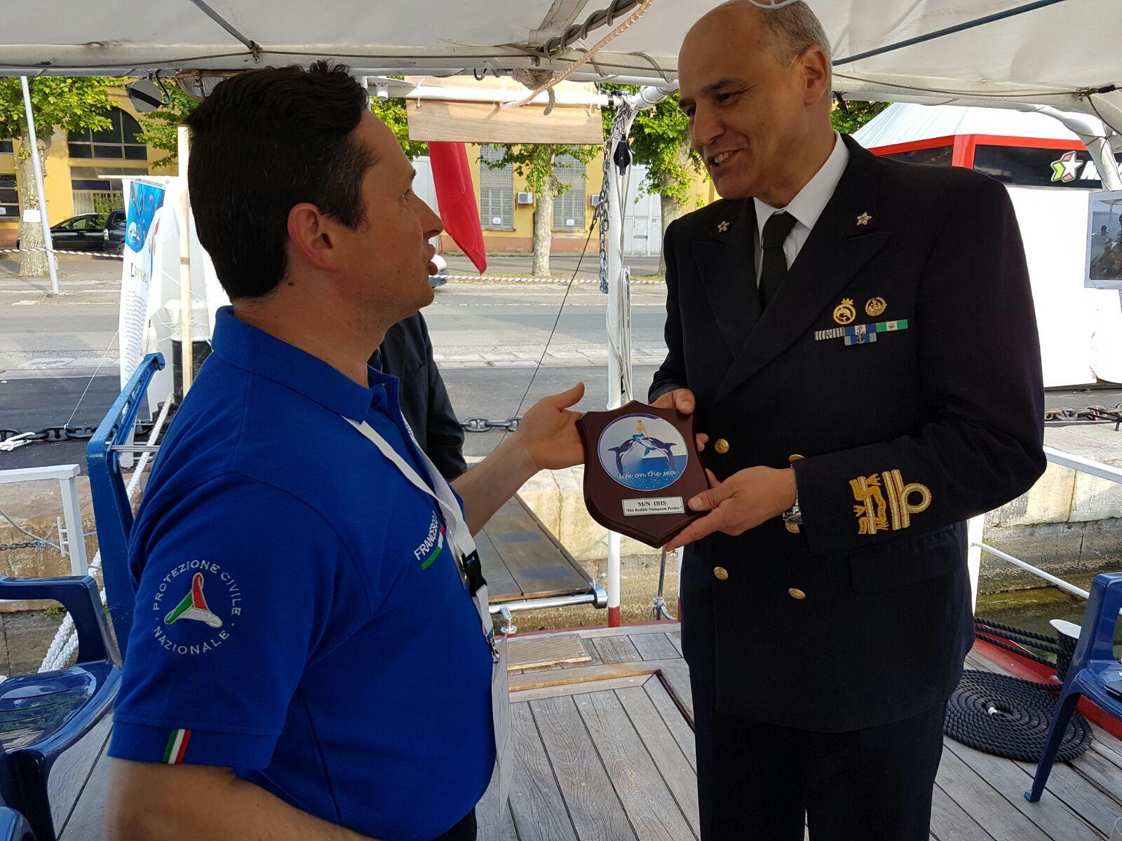 L'ammiraglio Camerini – Comandante Marittimo Nord